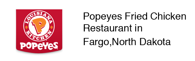Popeyes Fried Chicken Restaurant in Fargo, North Dakota